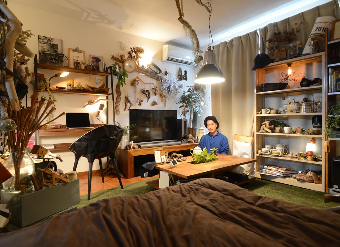 住むナイトミュージアム 隠れ家のような一人暮らし部屋